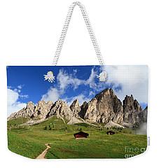 Weekender Tote Bag featuring the photograph Cir Group - Gardena Pass by Antonio Scarpi