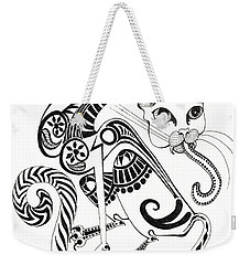 Circle Cat Weekender Tote Bag by Melinda Dare Benfield