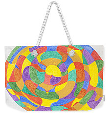 Weekender Tote Bag featuring the painting Life Cycles by Stormm Bradshaw