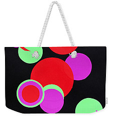 Weekender Tote Bag featuring the mixed media Circle Study One by Michele Myers