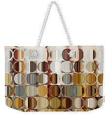 Circles And Squares 36. Modern Abstract Fine Art Weekender Tote Bag by Mark Lawrence