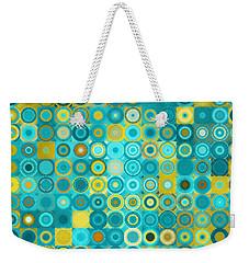 Circles And Squares 6. Modern Home Decor Art Weekender Tote Bag