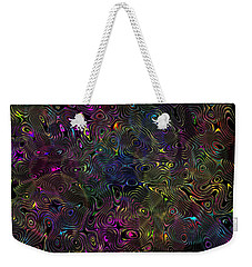 Weekender Tote Bag featuring the photograph Rainbow Raindrops by Mark Blauhoefer