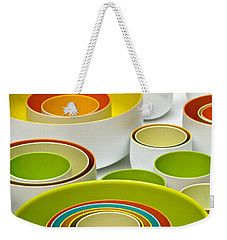 Weekender Tote Bag featuring the photograph Circles Squared by Ira Shander