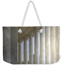 Circular Colonnade Of The Thomas Jefferson Memorial Weekender Tote Bag by Shelley Neff