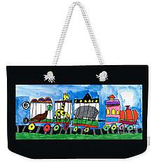 Circus Train Weekender Tote Bag