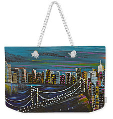 Citiscape Weekender Tote Bag by Donna Blossom