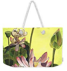 Citron Lotus 1 Weekender Tote Bag
