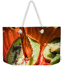 Citrus Butterfly Weekender Tote Bag by Karen Wiles