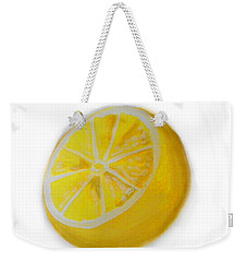 Weekender Tote Bag featuring the painting Citrus by Marisela Mungia