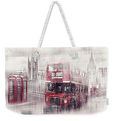 City-art London Westminster Collage II Weekender Tote Bag by Melanie Viola