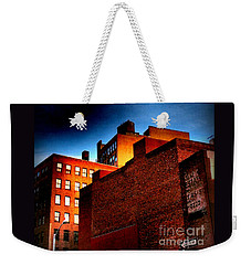 Old Buildings Of New York City With Ghost Ad - City Blocks - Building Blocks Series - Vertical Weekender Tote Bag