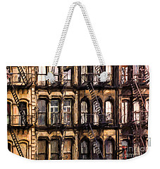 City Brownstones Weekender Tote Bag by Diane Diederich