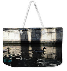 Weekender Tote Bag featuring the photograph City Ducks by Shawn Marlow
