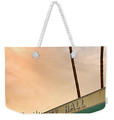 City Hall Sky Palm Springs City Hall Weekender Tote Bag