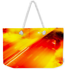 Weekender Tote Bag featuring the photograph City Lights 1 by Mez