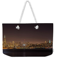 City Lights San Francisco California Weekender Tote Bag by James Hammond
