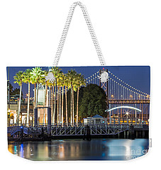 City Lights On Mission Bay Weekender Tote Bag