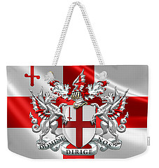 City Of London - Coat Of Arms Over Flag  Weekender Tote Bag