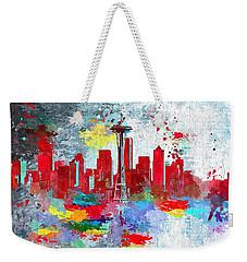 City Of Seattle Grunge Weekender Tote Bag