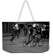 City Street Cycling Weekender Tote Bag