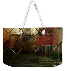 Weekender Tote Bag featuring the digital art City Street by Liane Wright