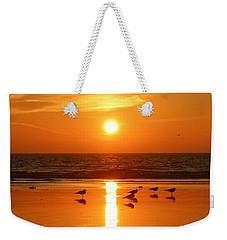 Clam Digging At Sunset - 2 Weekender Tote Bag