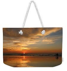 Clam Digging At Sunset - 4 Weekender Tote Bag