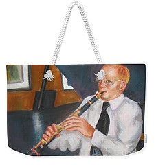Clarinet At Palm Court Weekender Tote Bag