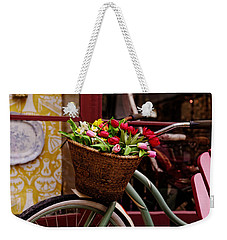 Classic Bike With Tulips Weekender Tote Bag