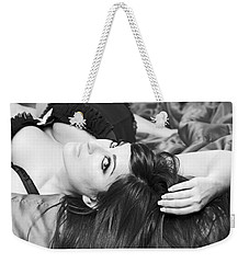 Weekender Tote Bag featuring the pyrography Classic Boudoir by Shoal Hollingsworth