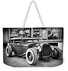 Classic Hot Rod In Black And White Weekender Tote Bag