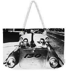 Classic James Dean Porsche Photo Weekender Tote Bag by Georgia Fowler
