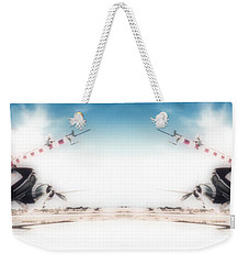 Weekender Tote Bag featuring the photograph Propeller Aircraft by R Muirhead Art