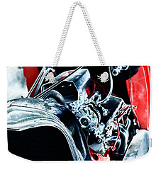 Weekender Tote Bag featuring the digital art Classic Red by Erika Weber