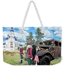 Weekender Tote Bag featuring the photograph Classic Ride by Liane Wright