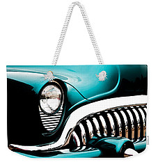Classic Turquoise Buick Weekender Tote Bag by Joann Copeland-Paul