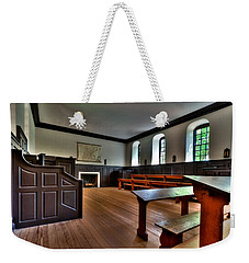 Weekender Tote Bag featuring the photograph Classroom Wren Building by Jerry Gammon