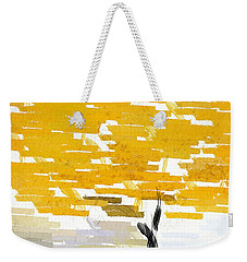 Classy Yellow Tree Weekender Tote Bag by Lourry Legarde