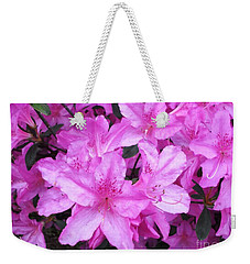 Weekender Tote Bag featuring the photograph Azaleas by Donna Dixon