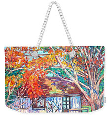 Claytor Lake Cabin In Fall Weekender Tote Bag
