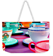 Weekender Tote Bag featuring the photograph Clean Cup Clean Cup Move Down by Benjamin Yeager