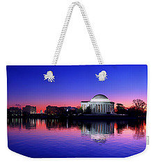 Clear Blue Morning At The Jefferson Memorial Weekender Tote Bag