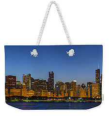 Weekender Tote Bag featuring the photograph Clear Blue Sky by Sebastian Musial