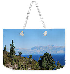 Weekender Tote Bag featuring the photograph Clear Day by George Katechis