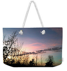 Weekender Tote Bag featuring the photograph Clear Evening Sky by Linda Bailey