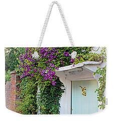 Clematis Around The Door Weekender Tote Bag by Terri Waters