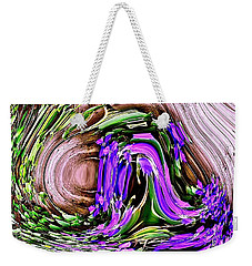 Clematis On A Fence Weekender Tote Bag
