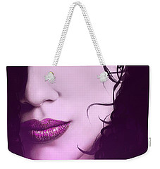 Weekender Tote Bag featuring the digital art Cleopatra by Michael Rucker