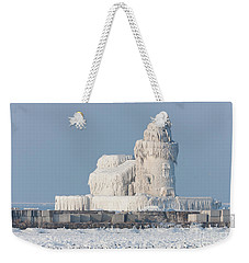 Cleveland Harbor West Pierhead Light Weekender Tote Bag by Clarence Holmes